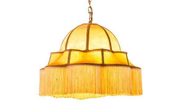lamp with fringe