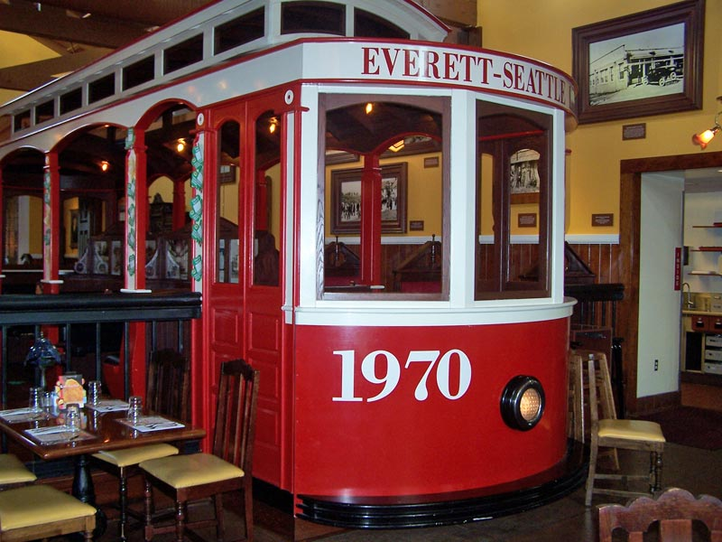 Lynnwood Old Spaghetti Factory trolley