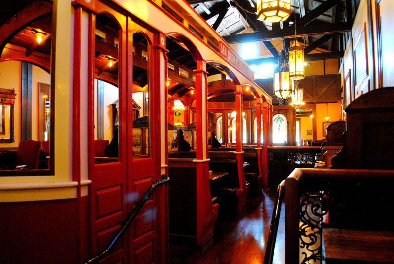 San Marcos Old Spaghetti Factory trolley