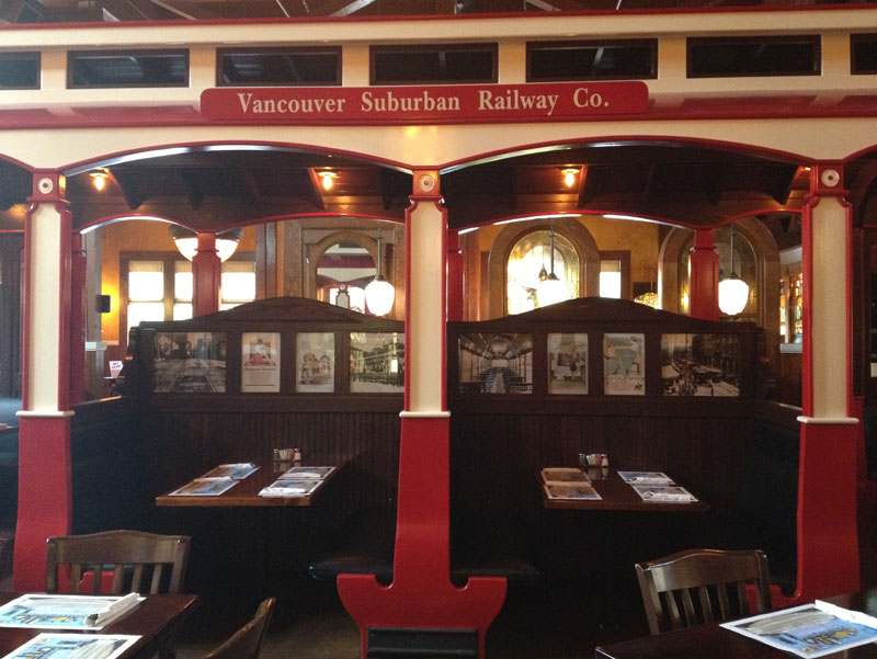 Vancouver Old Spaghetti Factory trolley