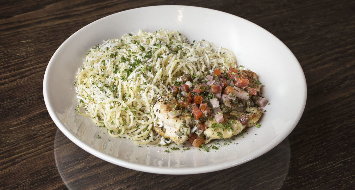 plate of The Old Spaghetti Factory's chicken piccata