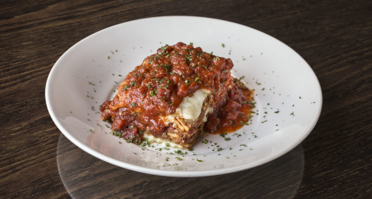 plate of The Old Spaghetti Factory's lasagna